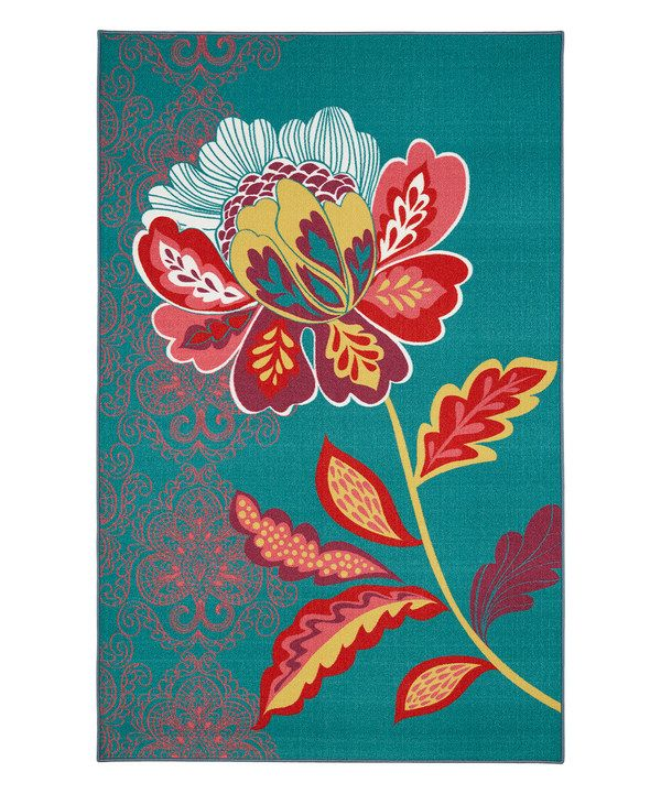 Look At This Teal Amaranda Rug On Zulily Today Floral