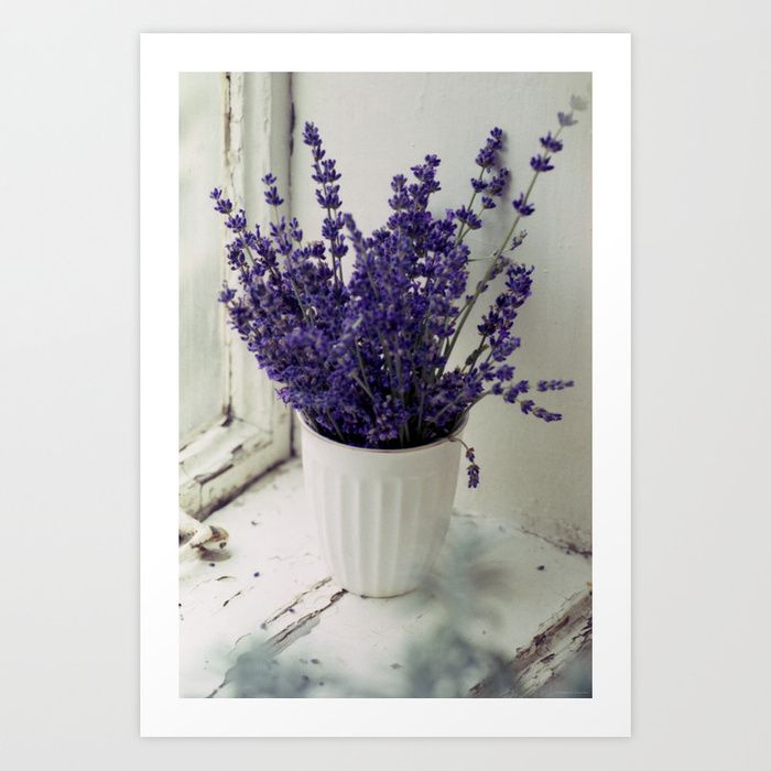Retro Analog Photography Floral Prints Lavender Wall Art Print Decorate Your Home Office Kids Room Floral Prints Art Flower Wall Art Floral Wall Art