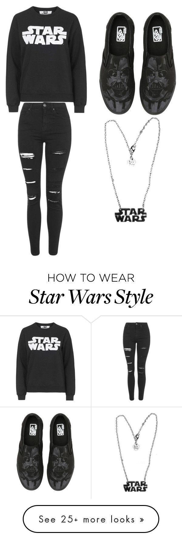 """""""Star Wars is awesome"""" by estela16048 on Polyvore featuring Tee and Cake, Topshop and Vans"""