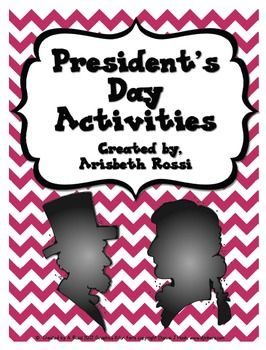 Here are a few fun activities to use on President's Day for Abraham Lincoln and George Washington! This freebie includes information about each president, timelines, ABC orders, and a fill in the blank activity.