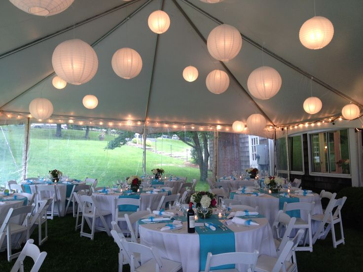 tent party love the look of the lights & lanterns