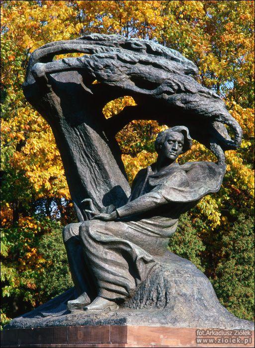 Zdjęcia Fryderyka Chopina w warszawskich Łazienkach