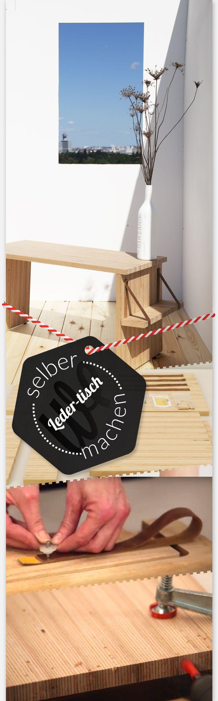 SCHNIEKE – Das Möbel-Gericht für Elegante: DIY Couchtisch aus hochwertigem Holz und Lederriemen. Ganz einfach zum nachbauen mit Schritt-für-Schritt Videoanleitung. Alle Materialien bekommst Du als Bausatz nach Hause geliefert.  Selber bauen so einfach wie kochen! Jetzt bestellen