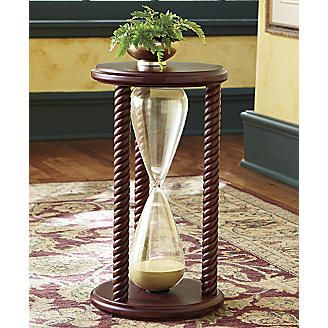 Hourglass Table From Seventh Avenue Hourglass Table Glass End Tables