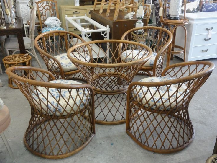 Vintage Ficks Reed Rattan Dining Set - 215 Best Vintage Rattan Chairs Images On Pinterest Architecture