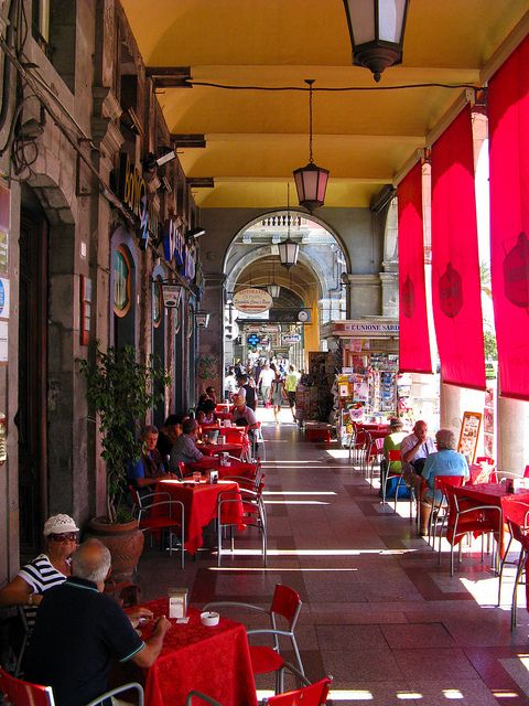 I walked through this exact breezeway! ... Cagliari, Sardinia, Italy, Oh Yes, I remember it well.