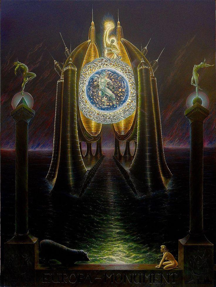 Monument Union Europa, European Union,fanrastic Art,fantastic Realism,art  Gallery,