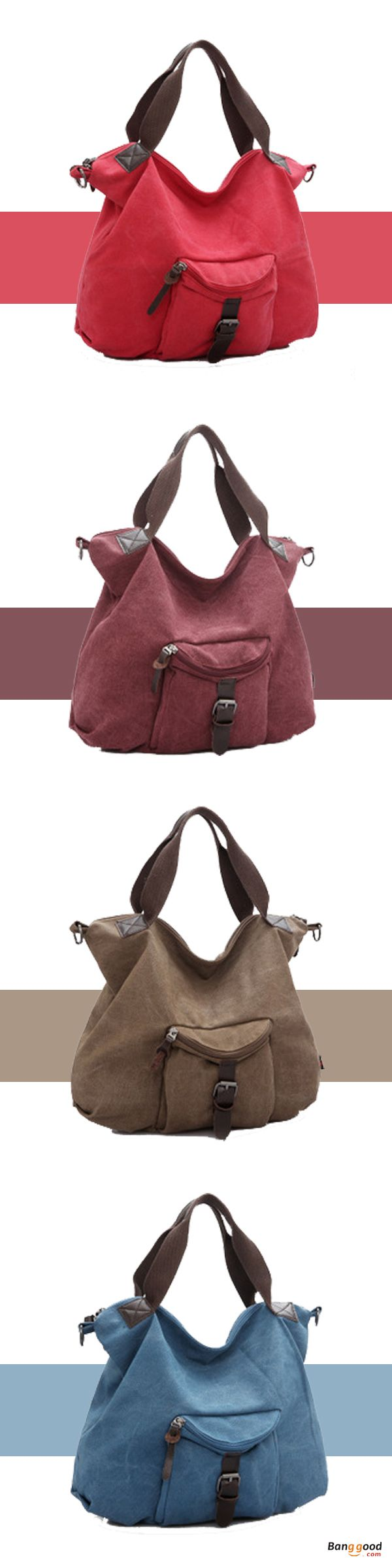 US$27.99+Free shipping. Canvas Bags, Shoulder Bags, Crossbody Bags, Casual, Simple, Color: Blue, Brown, Burgundy, Watermelon Red. Shop now~