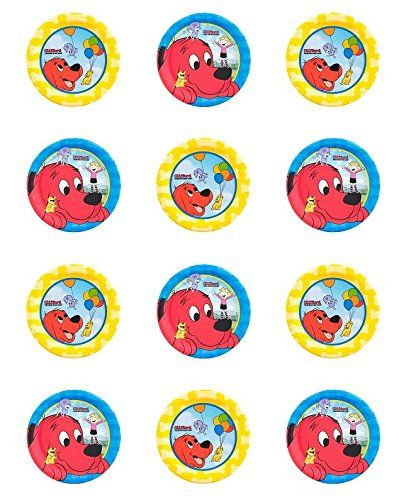 Clifford Birthday Cake Toppers