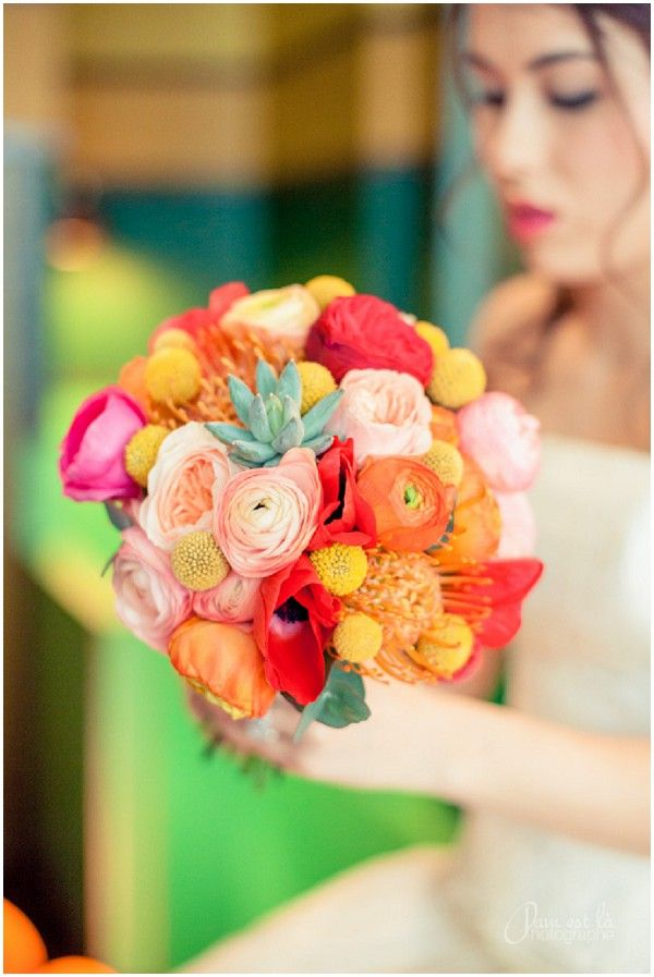 Beat the winter blues with bright floral wedding inspiration