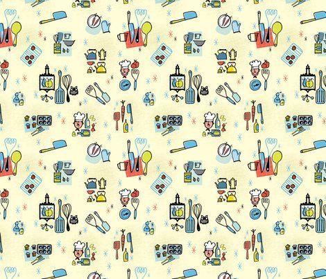 Kitchen Utensils Wallpaper 84 best fun kitchen wallpaper images on pinterest   kitchen