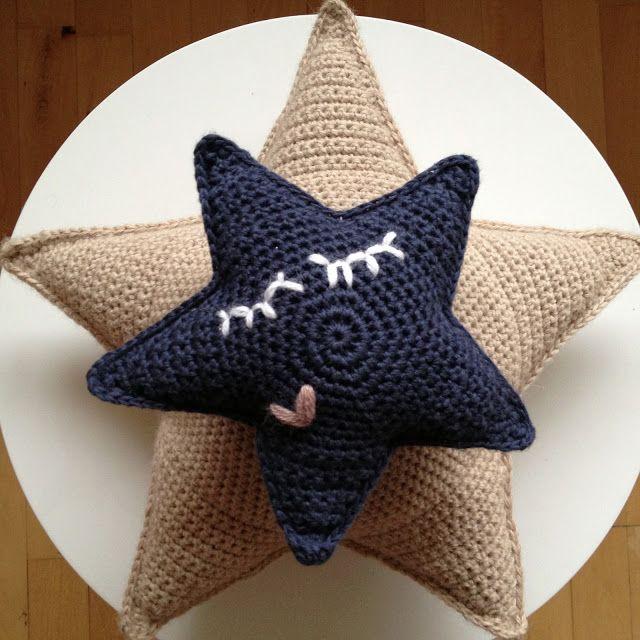 stjernestunder diy hvadbiertaenker crochet pinterest herzchen h keln und handarbeiten. Black Bedroom Furniture Sets. Home Design Ideas