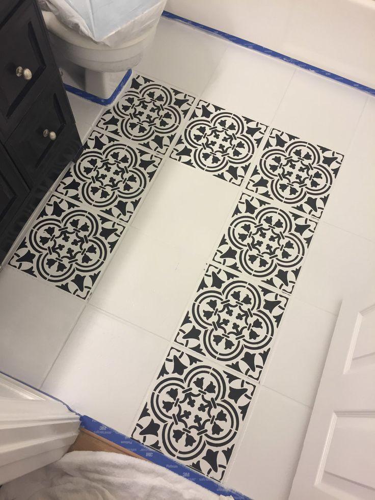 Diy Painted Stencil Bathroom Floor: 430 Best Stenciled & Painted Floors Images On Pinterest