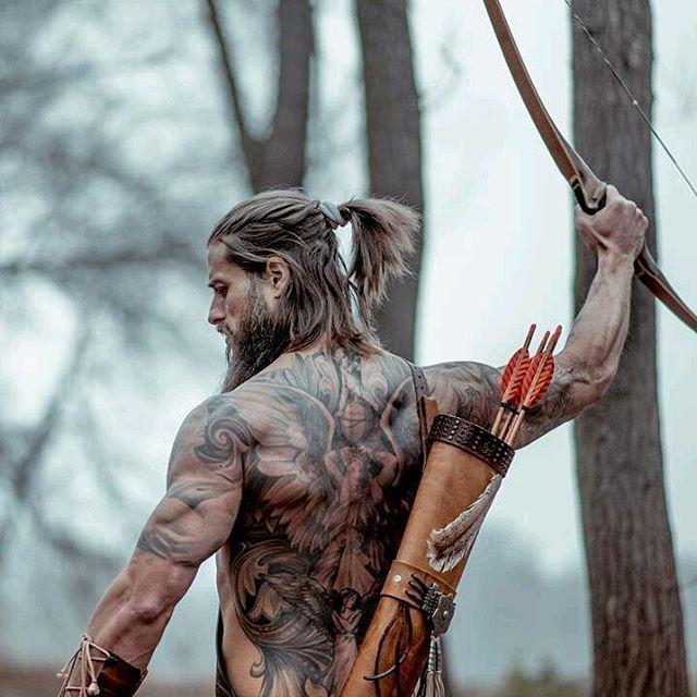 Vikings men's fashion beautiful men male models archer hot guys