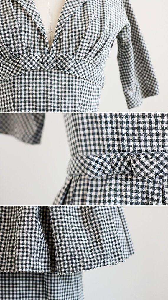 Jahrgang der 1950er Jahre Kleid / 50er Jahre von RococoVintage