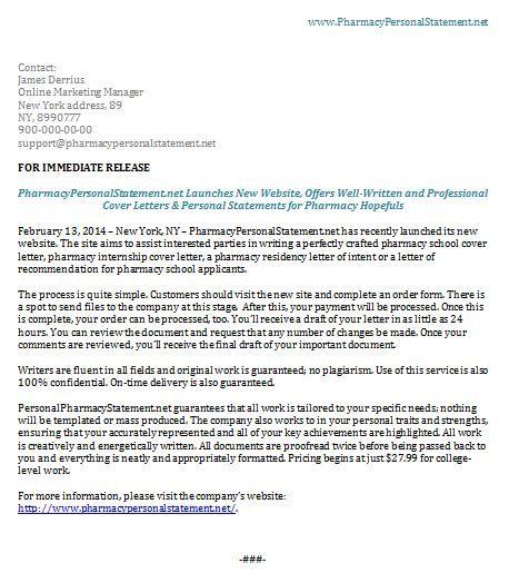 Website Launch Press Release Professional Release Writers Press Release Sample Professional