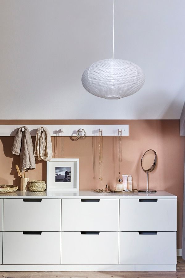 The IKEA NORDLI bedroom series features chests of drawers that are modular, so you can put them together to create the perfect combination for now, and adapt it as your needs change. NORDLI is packed with smart features, like soft-closing doors and drawers, that will make you happy you have it for years.