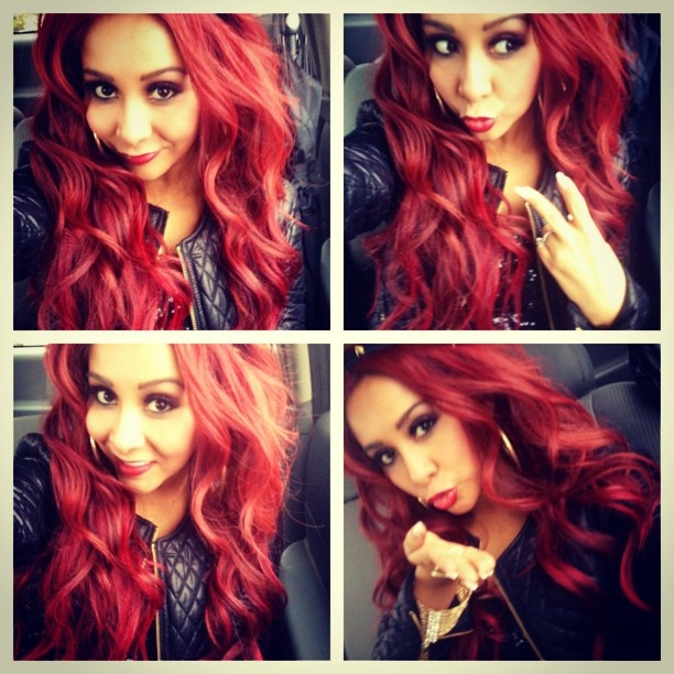 I'm loving snooki's red hair