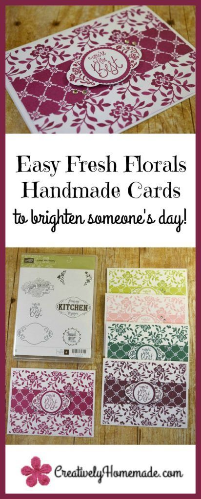 handmade greeting cards ideas cardmaking | Stampin Up cards to make | handmade floral cards made using the Stampin Up Label Me Pretty stamp set and the Fresh Florals designer series paper