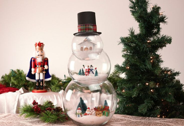 Christmas Craft: How To Make A Fishbowl Snowman