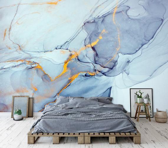 Marble Wall Mural Art Wallpaper Peel Stick Self Adhesive Etsy Mural Wall Art Mural Wallpaper Marble Wall Mural