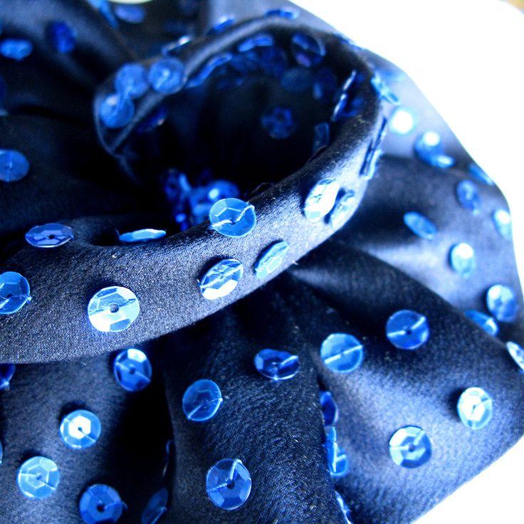 Ishtar silk flower brooch by Amalia Karageorgou