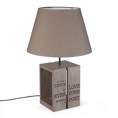 Palette Lampe en bois avec abat-jour taupe H52,5cm