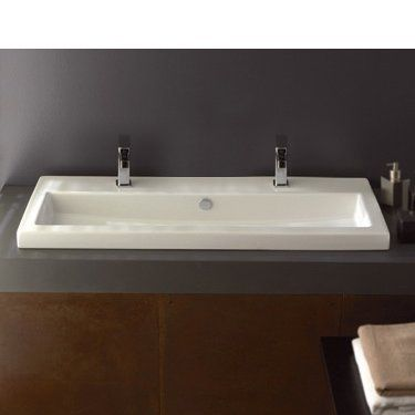 40 Ceramic Square Drop In Bathroom Sink With Overflow Rectangular Sink Bathroom Drop In Bathroom Sinks Wall Mounted Bathroom Sinks