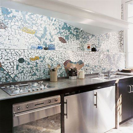 86 best mosaic backsplash images on pinterest for Crazy kitchen ideas