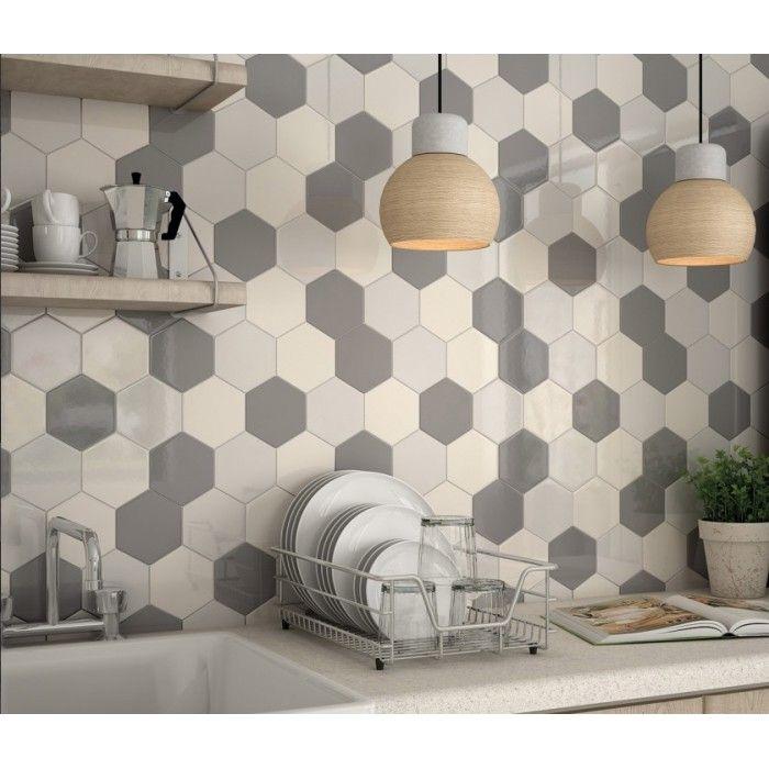 carrelage mural fa ence scale hexagon 10 couleurs hexagone 12 4x10 7cm en 2019 carrelage. Black Bedroom Furniture Sets. Home Design Ideas