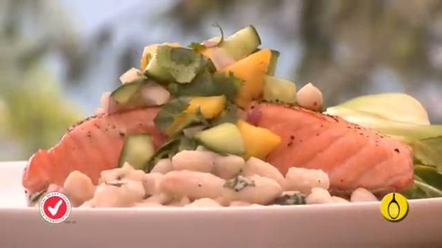 Salmon mango recipe National Heart Foundation