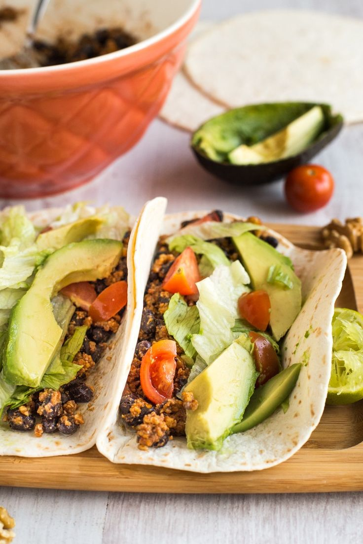 Use this healthy vegan recipe to make Walnut Tacos.