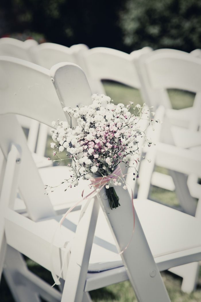 Gypsophelia chair display at Notley Abbey, www.wildorchidweddingflowers.co.uk photography by Shaneen Rosewarne Cox
