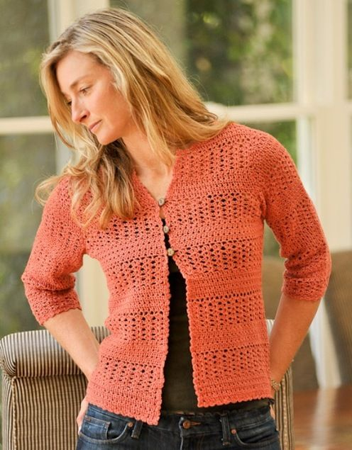 Louet North America--Therese Chynoweth--Summer Crochet Cardigan