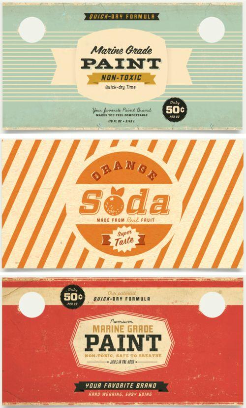 great label design: Vintage Graphics, Logo, Vintage Labels, Color, Paintings Cans, Vintage Packaging, Graphics Design, Retro Design, Vintage Design