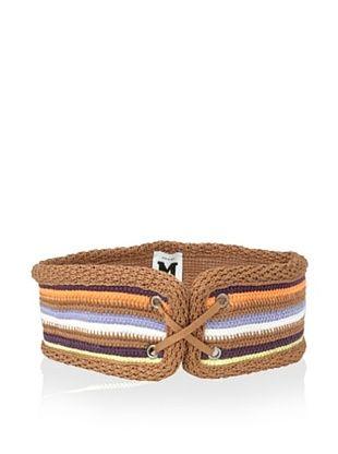 57% OFF M Missoni Women's Multi Striped Lace-Up Belt (Orange Multi)