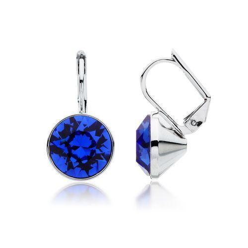 Bella Sapphire Blue Crystal Drop Earrings with Swarovski® Crystals