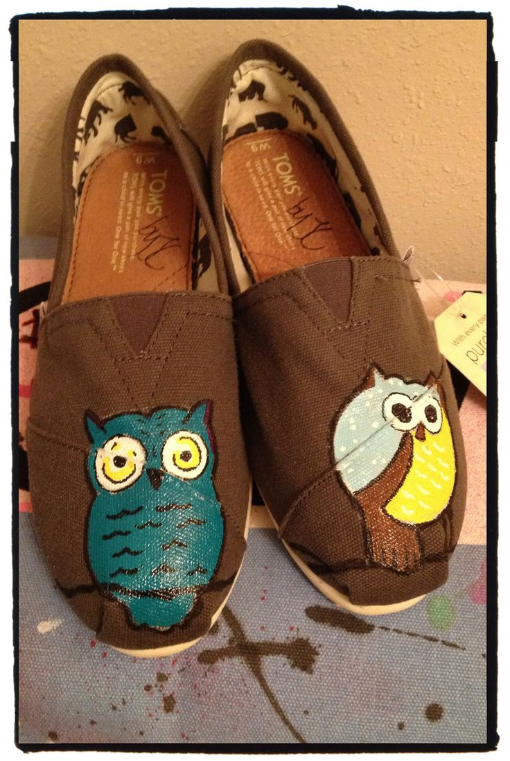 Owl toms, I have never liked the way toms looked until I saw owls on toms!