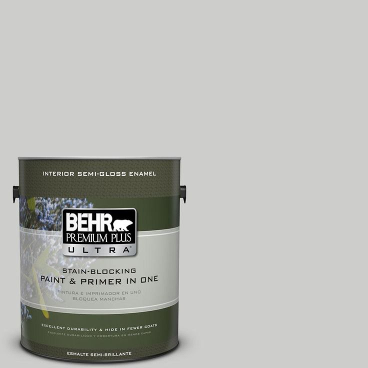 BEHR Premium Plus Ultra 1-gal. #ppl-64 Pewter Vase Semi-Gloss Enamel Interior Paint