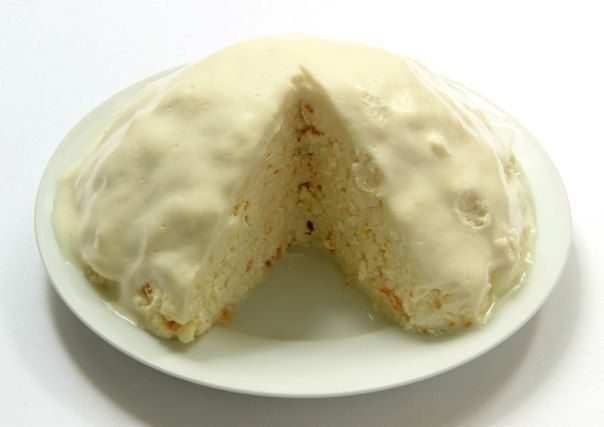 Cake from dairy products without bakingIngredients:1 kg of cheeseBank of condensed milk1 sweet orangeHalf cup sour creamHalf cup sugar, or to tastePreparation:In the bowl of a decent size to be placed 1 kg of cottage cheese, for him to pour the entire contents of the cans of condensed milk. Wash rip...