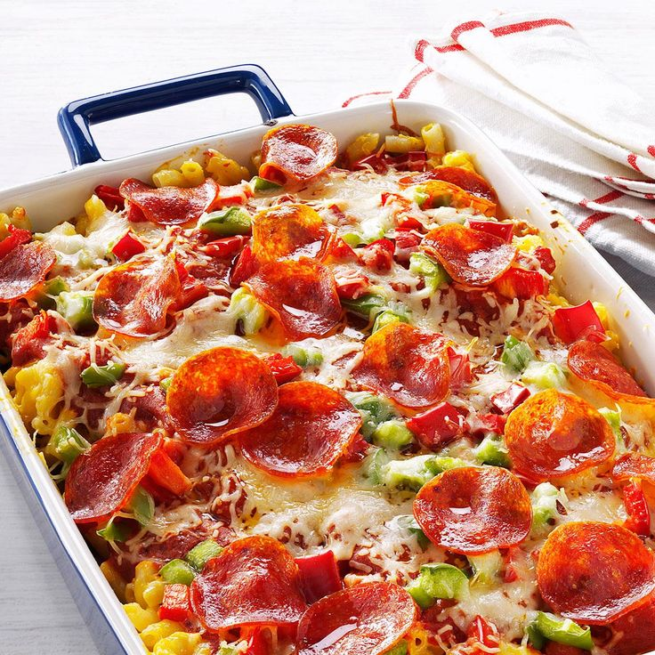 Pizza Macaroni & Cheese Recipe -My grandma made this for us once when she came to visit and I never forgot just how good it was. Since my kids love anything with pepperoni and cheese, I thought they'd enjoy it just as much as I did. —Juli Meyers, Hinesville, Georgia