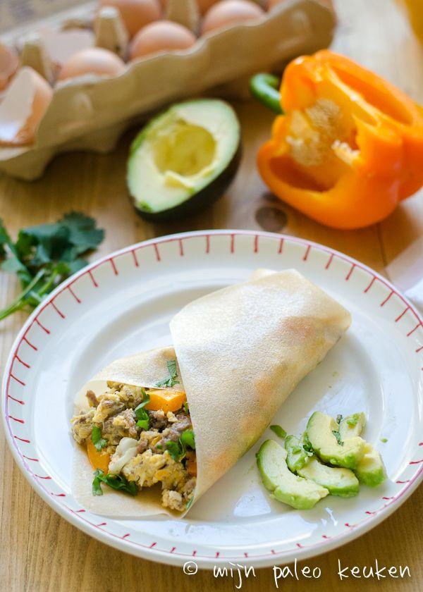 Paleo wraps ontbijt burrito's