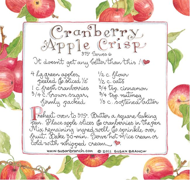 "Another pinner said...""Cranberry Apple Crisp - Love this! Have made this at least 10 times (Susan Branch)"""