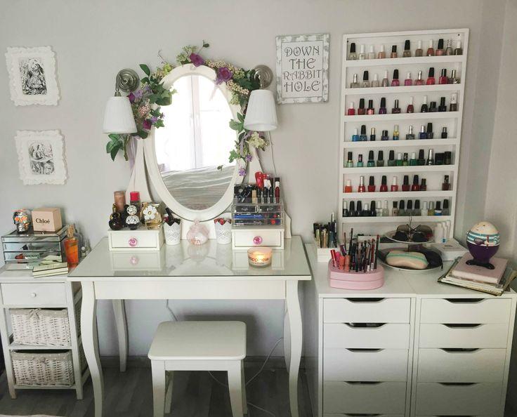 my vanity, make-up table