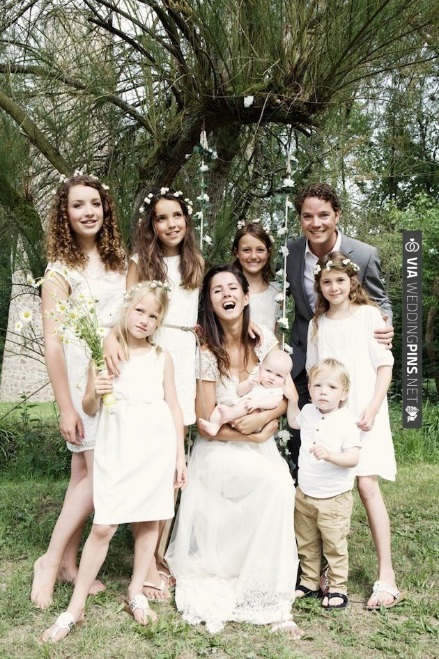 Cherubic bridesmaids in white + delicate flower crowns   CHECK OUT MORE IDEAS AT WEDDINGPINS.NET   #weddings #bridesmaids #bridal #dresses #fashion #forweddings