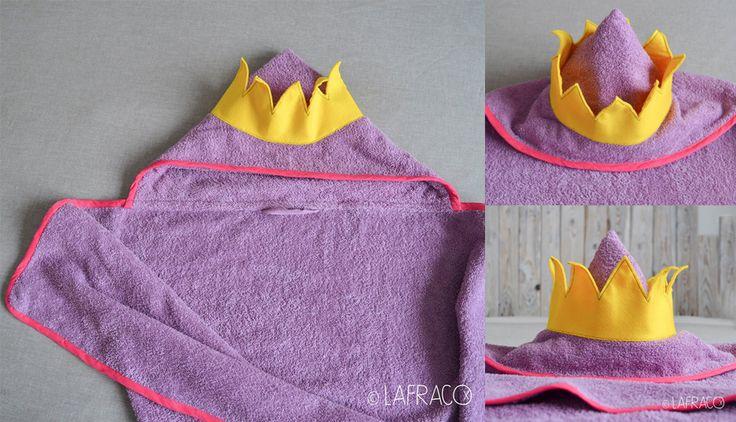 accappatoio con corona da principessa #asciugamanoincappucciato #lafraco