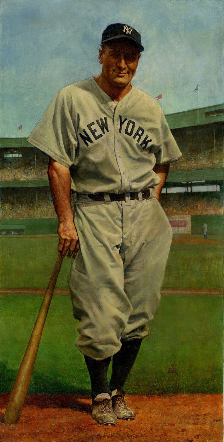 Lou Gehrig, NY Yankees by Bruce Stark.