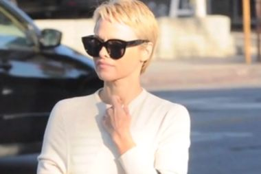 Pixie haircut: Pam Anderson's do invokes some Tinker Bell magic - Makes her look younger I think!