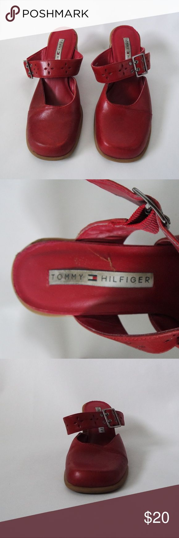 TOMMY HILFIGER red 2 1/2 inch heel Red Tommy Hilfiger 2 1/2 inch heels. Size 7 1/2. Tommy Hilfiger Shoes Heels