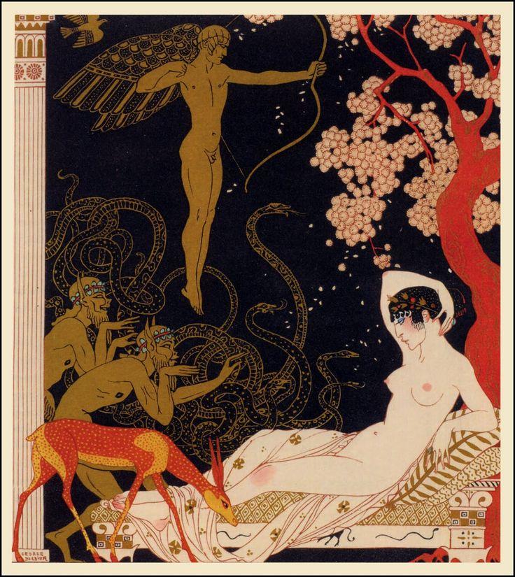 La belle Hélène, 1922 George Barbier http://vintage-rama.blogspot.com